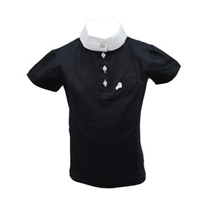 CAMISA POLO INF HDR PT C/ GOLA BR